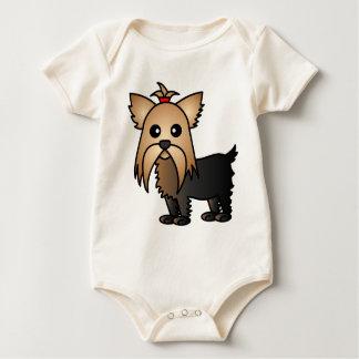 Cute Yorkshire Terrier Cartoon Bodysuit