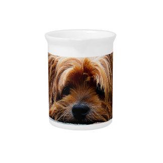Cute Yorkshire Terrier Dog Beverage Pitcher