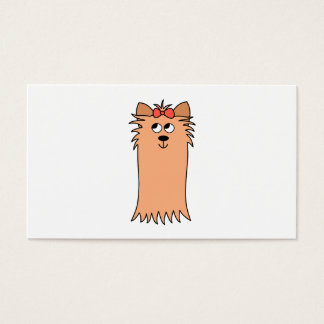 Cute Yorkshire Terrier, Dog. Business Card