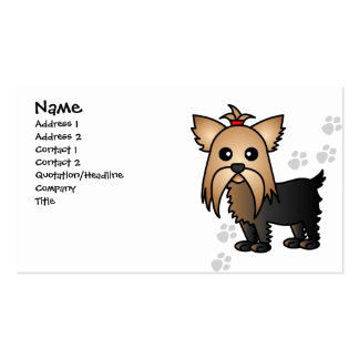 Cute Yorkshire Terrier Dog Business Card
