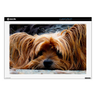"""Cute Yorkshire Terrier Dog Decal For 17"""" Laptop"""