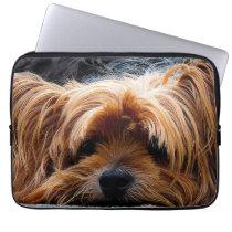 Cute Yorkshire Terrier Dog Laptop Sleeve