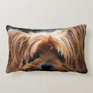 Cute Yorkshire Terrier Dog Lumbar Pillow