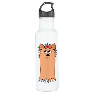 Cute Yorkshire Terrier, Dog. Stainless Steel Water Bottle