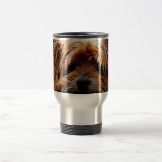 Cute Yorkshire Terrier Dog Travel Mug