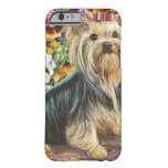 Cute Yorkshire Terrier in Pansy Garden iPhone 6 Case