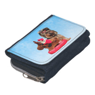 Cute Yorkshire Terrier Merry Christmas Wallets
