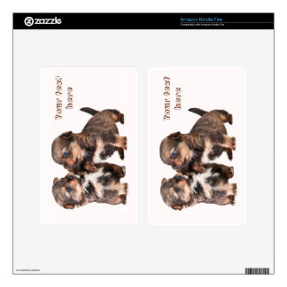 Cute Yorkshire Terrier Puppies Skins For Kindle Fire
