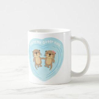 Cute You Are my Otter Half Love Pun Humor Mug