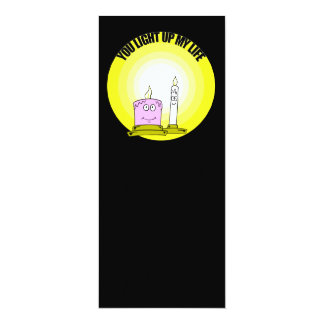Cute You Light Up My Life Candles 4x9.25 Paper Invitation Card