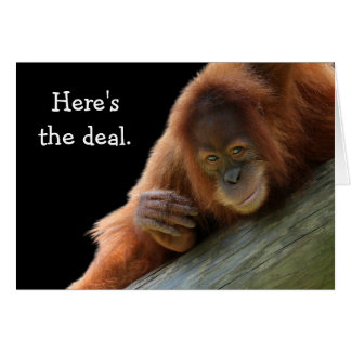 Cute Young Orangutan Birthday Card