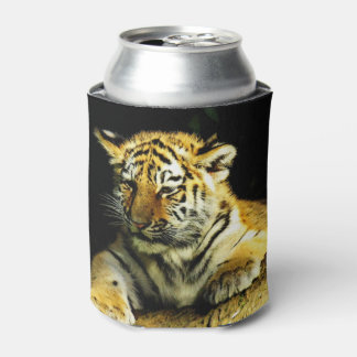 cute young tiger can cooler