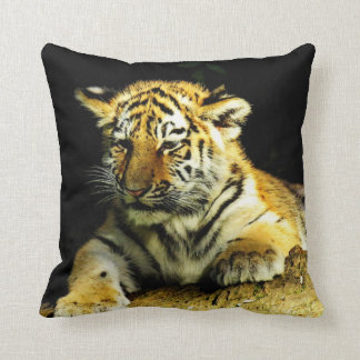 cute young tiger throw pillow