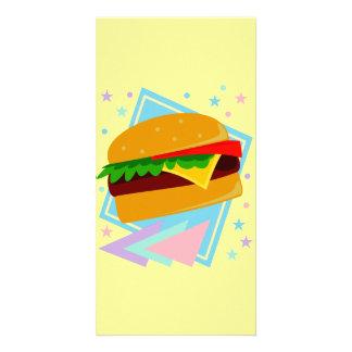 Cute Yummy Burger Photo Greeting Card