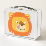 Cute Yummy Cartoon Lion Metal Lunch Box