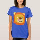 Cute Yummy Cartoon Lion Women T-Shirt