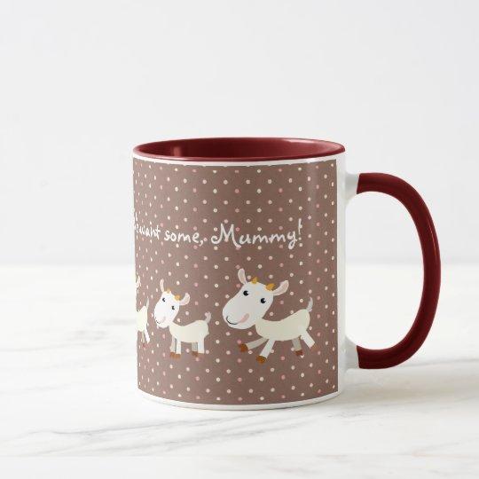 Cute Yummy Goat Mug - Customizable