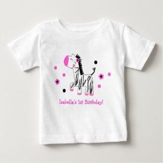 Cute Zebra Birthday Tee Shirt Tshirt Girl Kid Baby