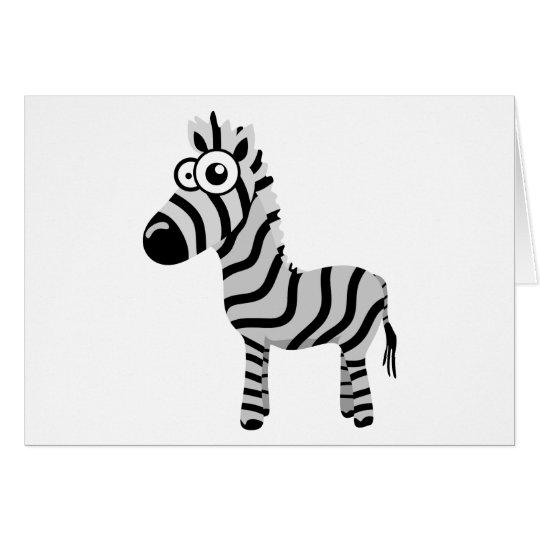 Cute zebra card