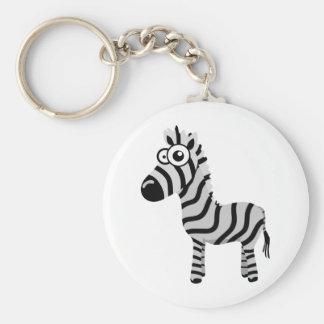 Cute zebra keychain