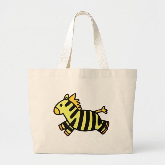 Cute Zebra Large Tote Bag