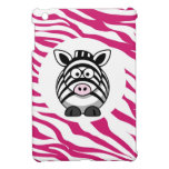 Cute Zebra on Pink Zebra Animal Print Zoo Gifts iPad Mini Covers