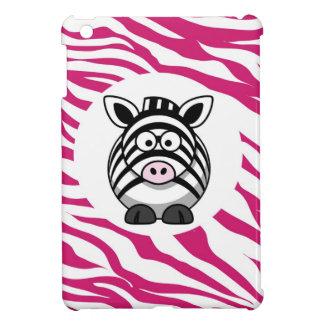 Cute Zebra on Pink Zebra Animal Print Zoo Gifts iPad Mini Case