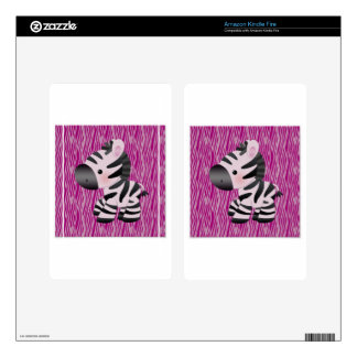 cute_zebra_pink_animal_print_ decals for kindle fire