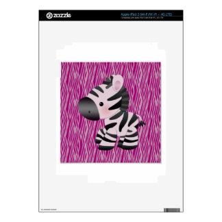 cute_zebra_pink_animal_print_ skins for iPad 3