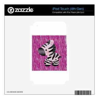 cute_zebra_pink_animal_print_ skins para iPod touch 4G