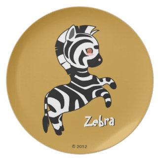 Cute Zebra Plate
