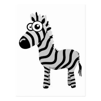 Cute zebra post card