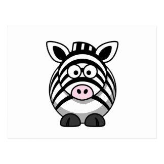 Cute Zebra Postcard