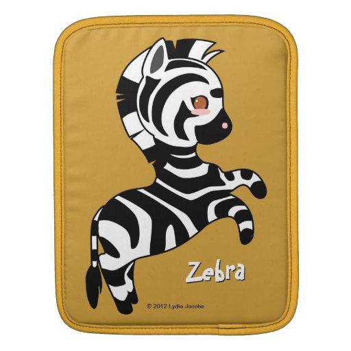 Cute Zebra Sleeve For iPads