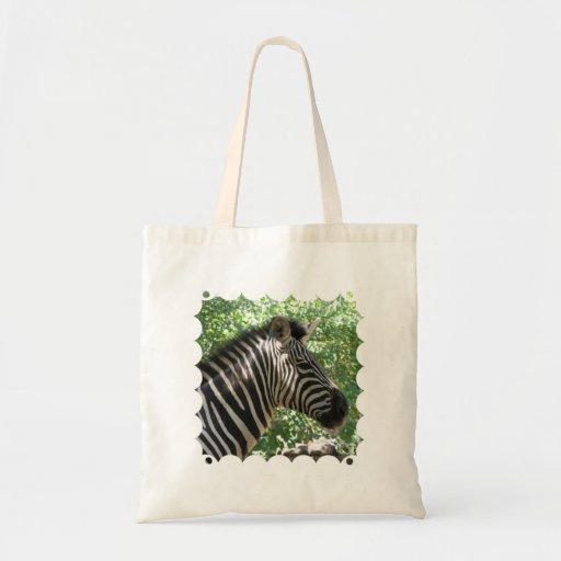 Cute Zebra Small Budget Tote Canvas Bag