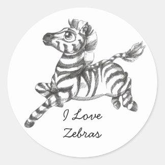 Cute Zebra Stickers