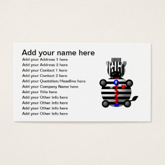Zipper business cards templates zazzle cute zebra with a zipper business card reheart Image collections