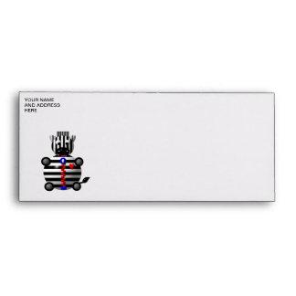 Cute zebra with a zipper envelopes