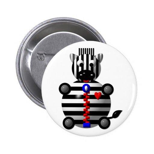 Cute zebra with a zipper pin