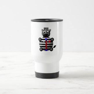 Cute zebra with a zipper travel mug