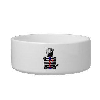 Cute Zebra with Zipper Bowl