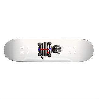 Cute Zebra with Zipper Skateboard Deck