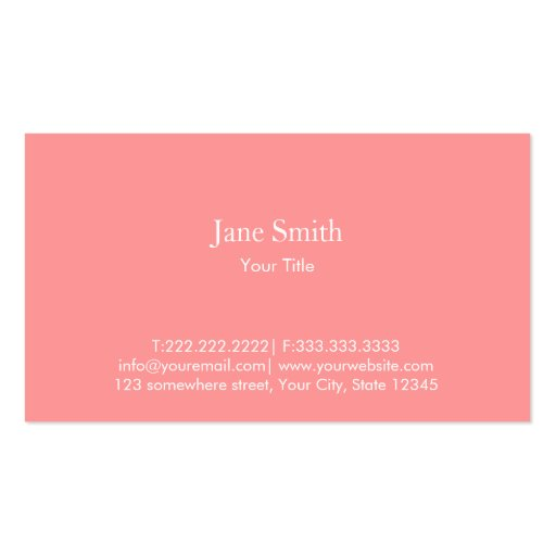 Cute Zigzag Stripes Monogram Business Card (back side)