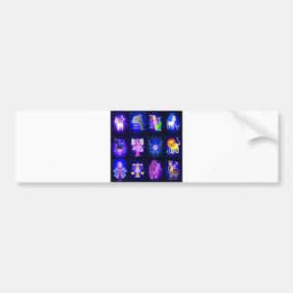 Cute Zodiac Characters Bumper Sticker