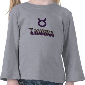 Cute Zodiac Sign Taurus Princess Birthday Shirt