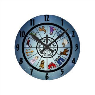 cute zodiac signs clocks