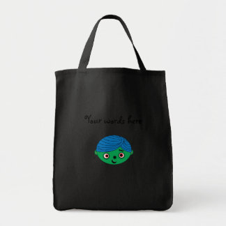 Cute zombie grocery tote bag