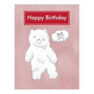 Cute Zombie Bear Postcard