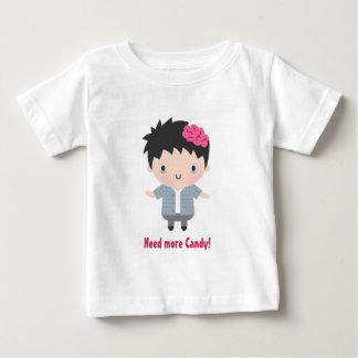 Cute Zombie Boy, Candy, Baby Halloween Baby T-Shirt