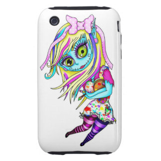 Cute Zombie Doll iPhone 3 Tough Covers